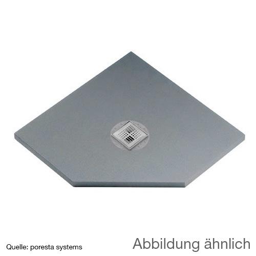 poresta systems BF KMK shower element, pentagonal, centred drain