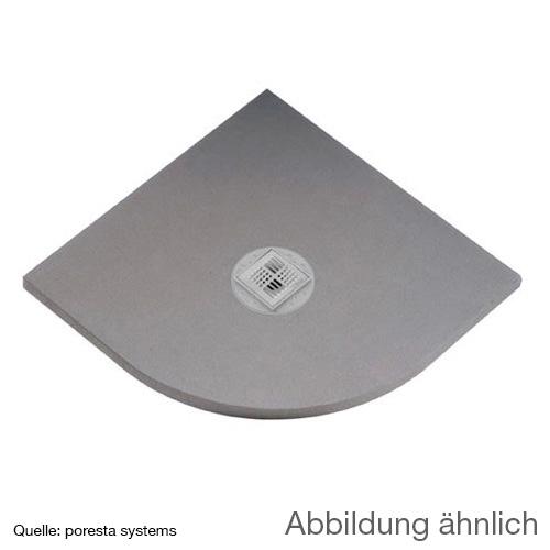 poresta systems BF KMK shower element, quadrant, centred drain