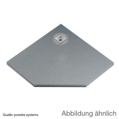 poresta systems BF KMK shower element, off-centre drain, pentagonal