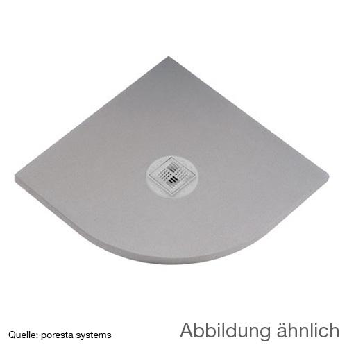 poresta systems BF shower element, quadrant, centred drain