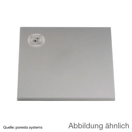 poresta systems BF shower element, off-centre drain, square