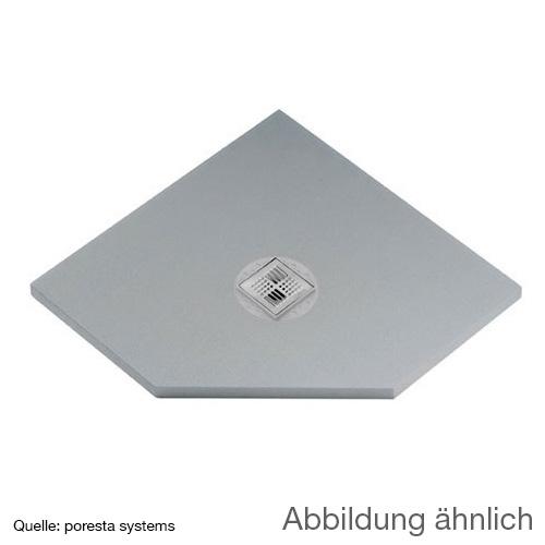 poresta systems BF shower element, centred drain, pentagonal