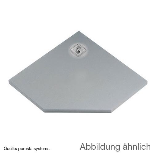 poresta systems BF shower element, off-centre drain, pentagonal