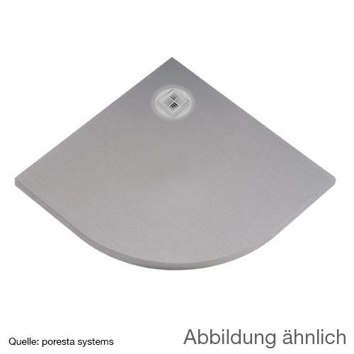 poresta systems BF shower element, off-centre drain, quadrant