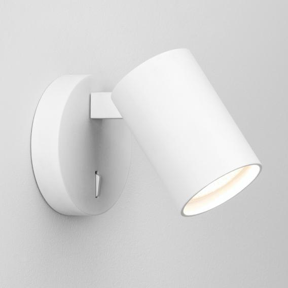 astro Ascoli single spotlight/wall light with on/off switch