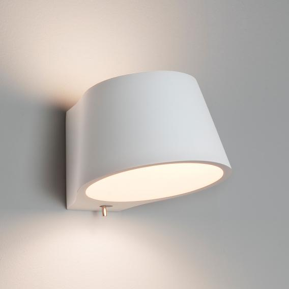 astro Koza wall light made of gypsum with on/off switch
