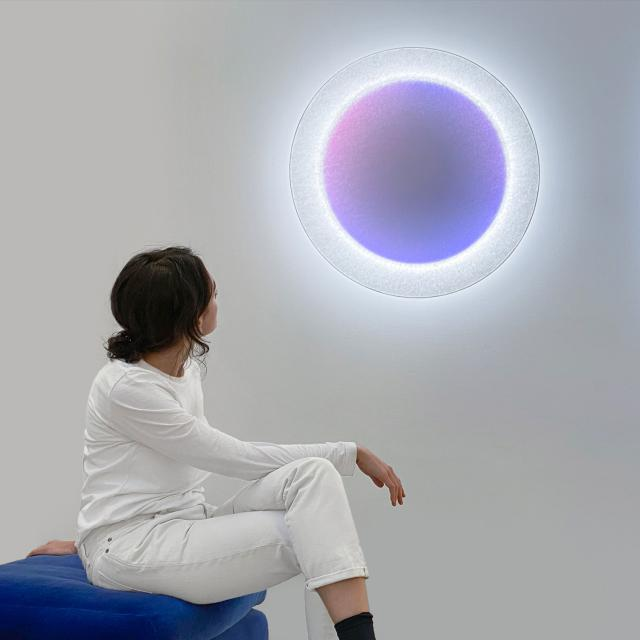 INGO MAURER Moodmoon RGBW LED wall light with dimmer, round