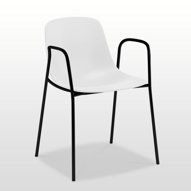 infiniti Pure Loop Mono chair with armrests
