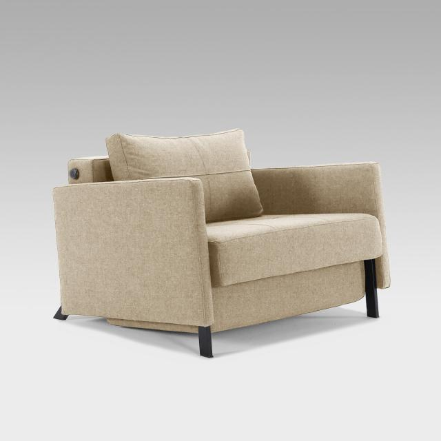 Innovation Cubed 90 chair bed with armrests