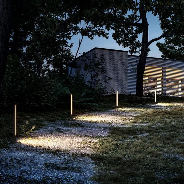 IP44.de lin base LED bollard light