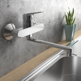 Ideal Standard CeraFlex wall-mounted, single lever kitchen fitting with swivel pipe spout