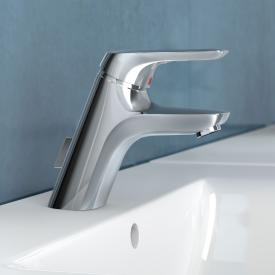 Ideal Standard CeraMix Blue single lever basin mixer with flexible connection hoses with pop-up waste set