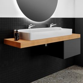 Ideal Standard Conca double washbasin white, with 2 tap holes, grounded, without overflow