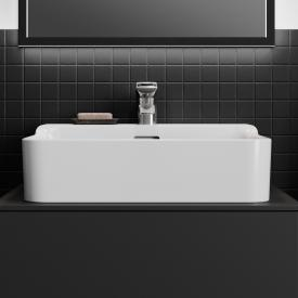 Ideal Standard Conca hand washbasin white, with 1 tap hole, grounded, with overflow