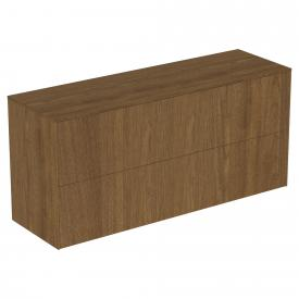 Ideal Standard Conca side unit with 2 pull-out compartments front dark walnut / corpus dark walnut