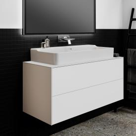 Ideal Standard Conca vanity unit with 2 pull-out compartments and 1 cut-out front matt white/corpus matt white