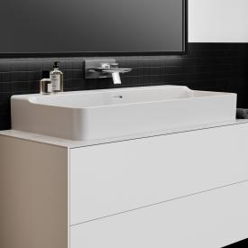 Ideal Standard Conca washbasin white, without tap hole, grounded, with overflow