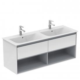 Ideal Standard Connect Air double vanity washbasin white, with Ideal Plus