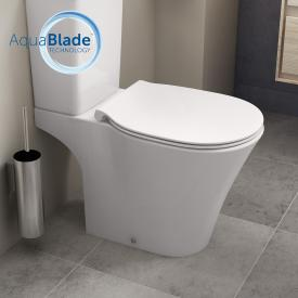 Ideal Standard Connect Air floorstanding, close-coupled washdown toilet, AquaBlade, outer horizontal outlet white