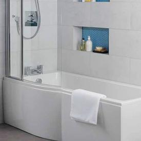 Ideal Standard Connect Air rectangular bath with shower zone