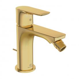 Ideal Standard Connect Air single lever bidet fitting with pop-up waste set brushed gold