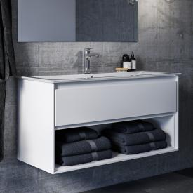 Ideal Standard Connect Air vanity unit, 1 pull-out compartment, 1 open compartment white gloss / matt white