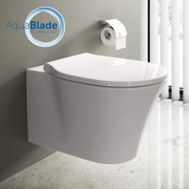 Ideal Standard Connect Air toilet combi pack, wall-mounted washdown toilet, AquaBlade, with toilet seat white