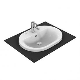 Ideal Standard Connect drop-in washbasin oval white, with Ideal Plus