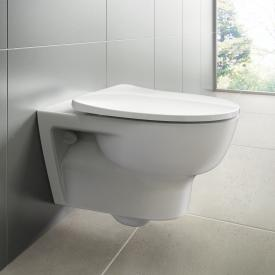 Ideal Standard Connect E wall-mounted washdown toilet, rimless, with toilet seat white, with Ideal Plus