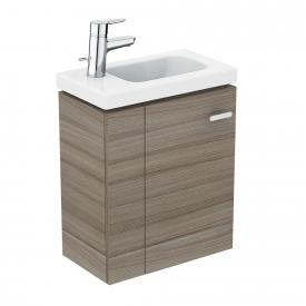 Ideal Standard Connect Space vanity unit for hand washbasin with 1 door front grey elm / corpus grey elm