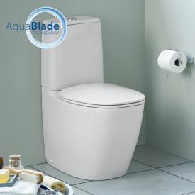 Ideal Standard Dea floorstanding close-coupled washdown toilet, AquaBlade silk matt white, with Ideal Plus