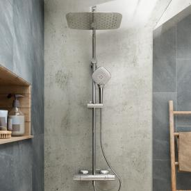 Ideal Standard Idealrain Cube shower system, with CeraTherm 100 exposed shower thermostat