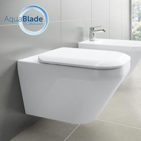 Ideal Standard Tonic II wall-mounted, washdown toilet, AquaBlade, with toilet seat white, with Ideal Plus