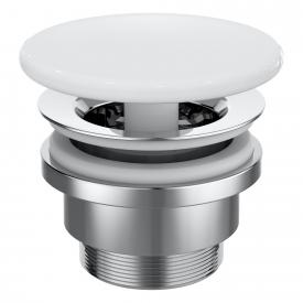 Ideal Standard waste valve, non-closing, with ceramic cover white