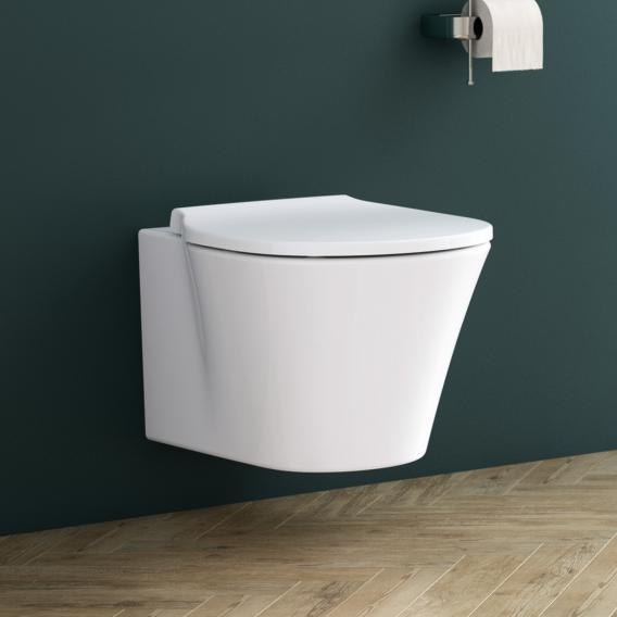 Ideal Standard Connect Air toilet set, wall-mounted, washdown toilet AquaBlade, with toilet seat white