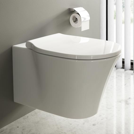 Ideal Standard Connect Air toilet combi pack, wall-mounted washdown toilet, rimless, with toilet seat white