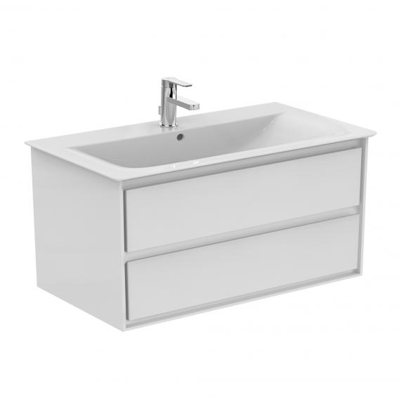 Ideal Standard Connect Air Washbasin With Vanity Unit With 2 Pull Out Compartments White With Ideal Plus E0274ma E0821b2 Reuter