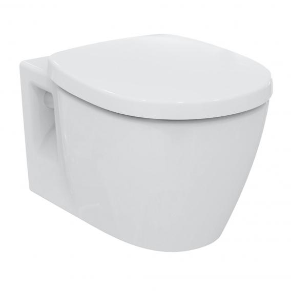 Ideal Standard Connect wall-mounted, rimless, washdown toilet, with toilet seat white
