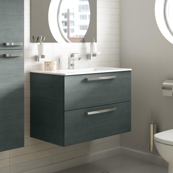 Ideal Standard Eurovit Plus washbasin with vanity unit with 2 pull-out compartments front white high gloss/corpus white high gloss