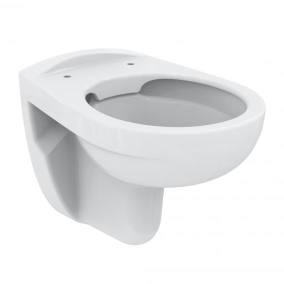 Ideal Standard Eurovit wall-mounted, washdown toilet, rimless, with toilet seat