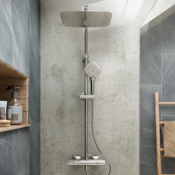 Ideal Standard Idealrain Cube shower system Evo Jet with CeraTherm 100 shower thermostat