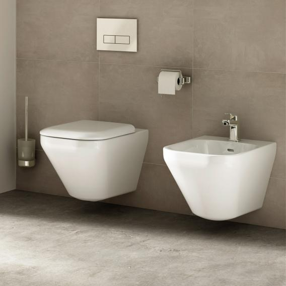 Ideal Standard Tonic II wall-mounted washdown toilet, AquaBlade white, with Ideal Plus