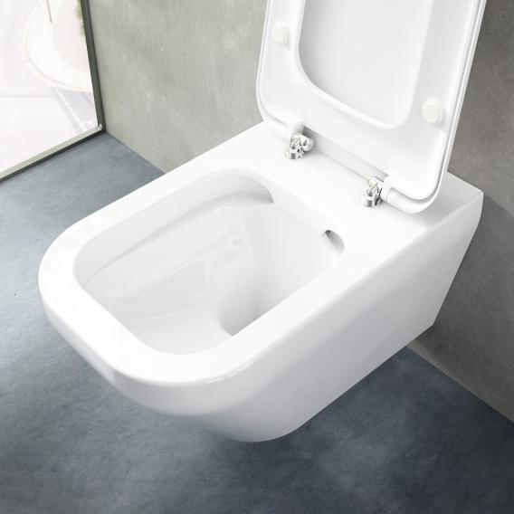 Ideal Standard Tonic II wall-mounted washdown toilet, rimless white, with Ideal Plus