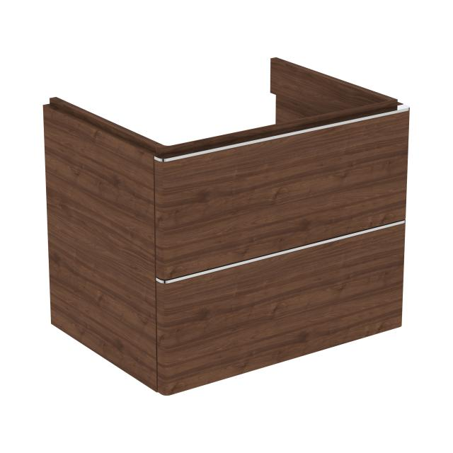 Ideal Standard Adapto vanity unit with 2 pull-out compartments front walnut decor / corpus walnut decor