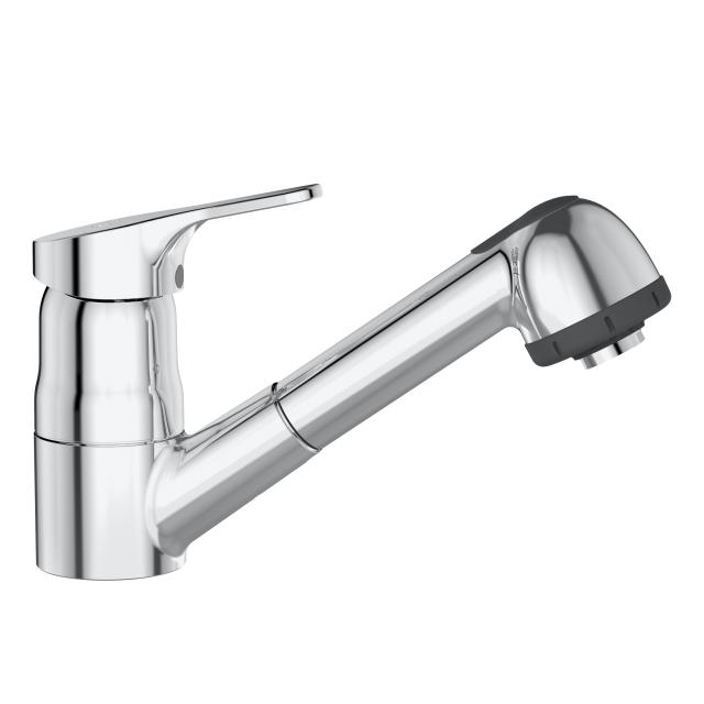 Ideal Standard CeraFit single lever kitchen mixer with retractable hand shower, low pressure