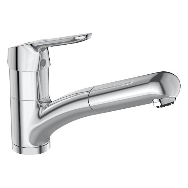 Ideal Standard CeraFlex kitchen mixer with retractable hand shower, low pressure