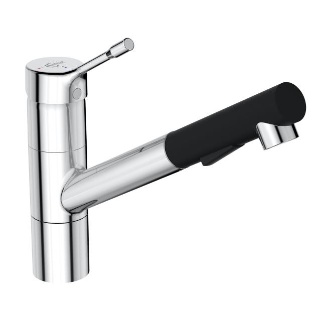 Ideal Standard CERALOOK single lever kitchen fitting with swivel & pull-out spout chrome