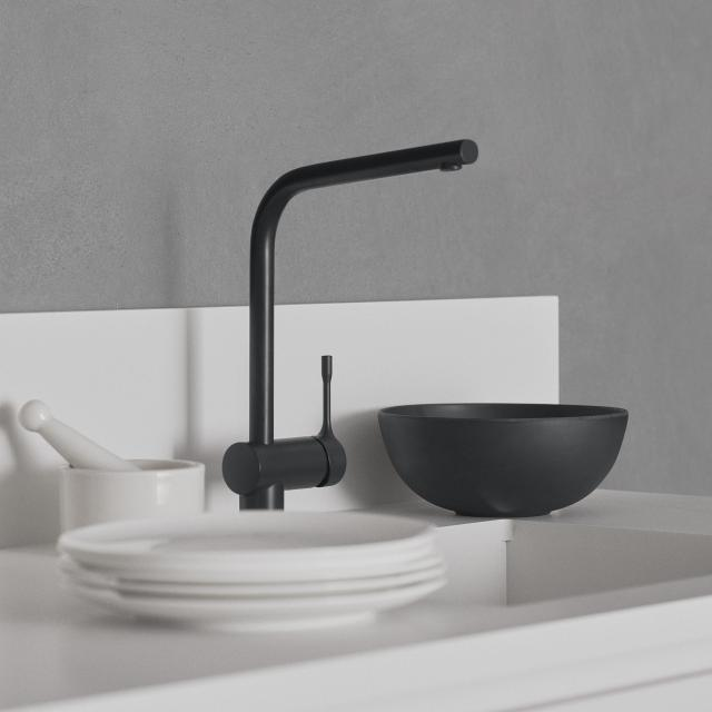 Ideal Standard CERALOOK single lever kitchen fitting with swivel spout silk black