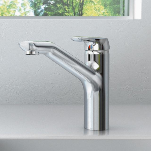 Ideal Standard CeraMix Blue single lever kitchen mixer chrome