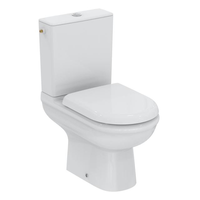 Ideal Standard Exacto combi pack floorstanding washdown toilet, rimless, with toilet seat